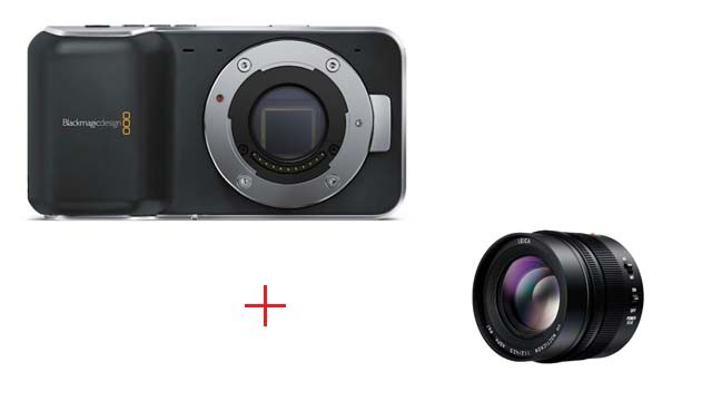 Купить -  Blackmagic Pocket Cinema Camera+Panasonic 42.5mm F1.2