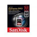 Фото -  SanDisk ExtremePro 4K 64GB SDXC Class 10 UHS-II R280/W250MB/s