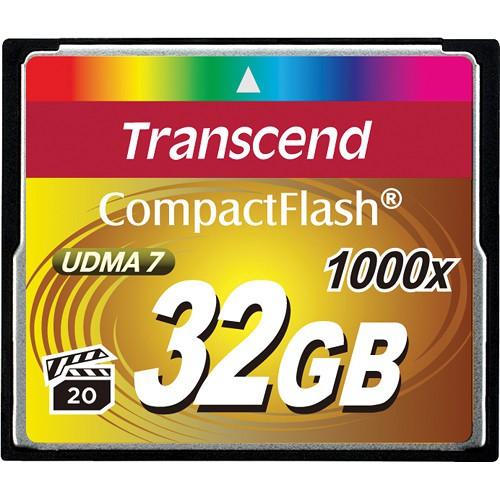 Купить -  Карта памяти Transcend CF 32GB(1000X)(TS32GCF1000)
