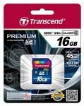 Фото -  Карта памяти Transcend Premium SDHC 16GB Class 10 UHS-I R60MB/s (TS16GSDU1)
