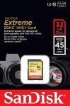 Фото -  Карта памяти SanDisk Extreme SDHC 32GB Class 10 R45/W45MB/s(SDSDX-032G-X46)