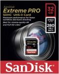 Фото -  Карта памяти SanDisk ExtremePro 4K 32GB SDHC Class 10 UHS-II R280/W250MB/s(SDSDXBP-032G-G46)