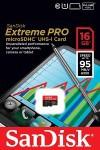 Фото -  Карта памяти SanDisk ExtremePro microSDHC 16GB Class 10 UHS-I 95MB/s(SDSDQXP-016G-X46)