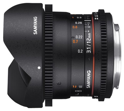 Купить -  Samyang 12mm T3.1 VDSLR ED AS NCS FISH-EYE Canon EF
