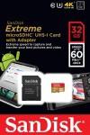 Фото -  Карта памяти SanDisk Extreme microSDHC 32GB Class 10 UHS-3 R60/W40MB/s (SDSDQXN-032G-G46A)