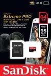 Фото -  Карта памяти SanDisk Extreme Pro microSDXC 64GB Class 10 UHS-3 R95/W90MB/s (SDSDQXP-064G-G46A)