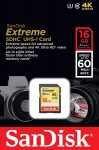 Фото -  Карта памяти SanDisk Extreme SDHC 16GB Class 10 UHS-I U3 R60/W40MB/s (SDSDXN-016G-G46)