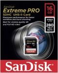 Фото -  Карта памяти SanDisk ExtremePro 4K 16GB SDHC Class 10 UHS-II R280/W250MB/s (SDSDXPB-016G-G46)