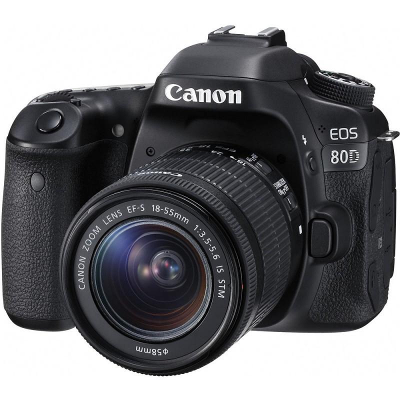 Купить -  Canon EOS 80D + EF-S 18-55mm IS STM Kit (Официальная гарантия)