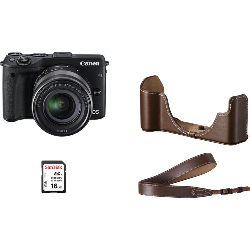 Купить -  Canon EOS M3 + EF-M 18-55mm STM Premium Kit