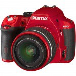 Фото -  Pentax K-50 DSLR Camera with 18-55mm Lens (Red)