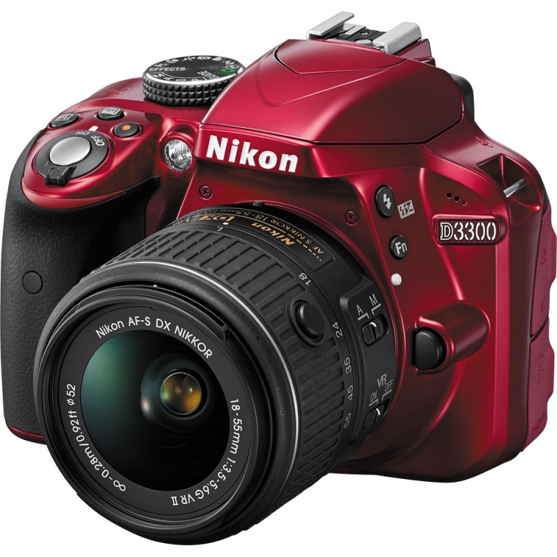 Купить - Nikon Nikon D3300 + AF-P 18-55VR Red KIT (VBA391K002)