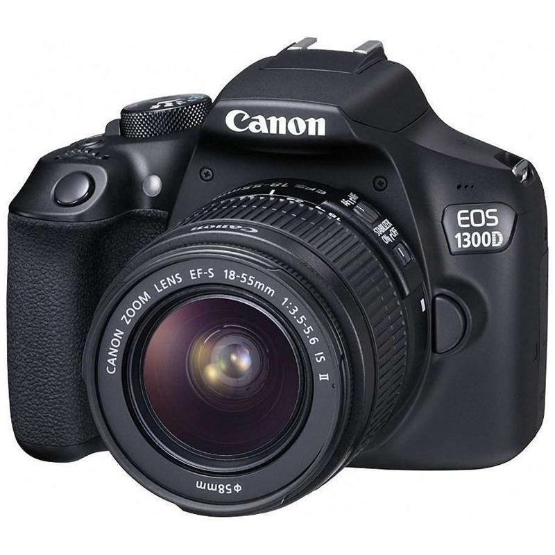 Купить -  Canon EOS 1300D + EF-S 18-55mm f/3.5-5.6 IS II (1160C036AA) Официальная гарантия