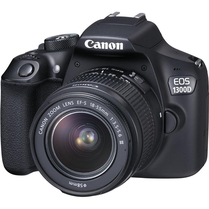 Купить -  Canon EOS 1300D + EF-S 18-55mm f/3.5-5.6 DC III (1160C020AA) Официальная гарантия