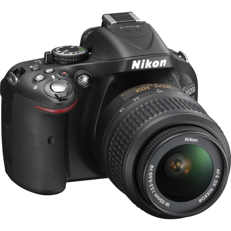 Купить - Nikon Nikon D5200+18–55mm II Black KIT (VBA350KV02)