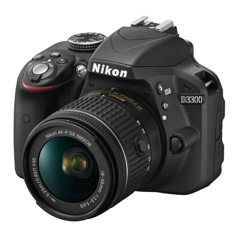 Купить - Nikon Nikon D3300 + AF-P 18-55 II Black KIT (VBA390K010)