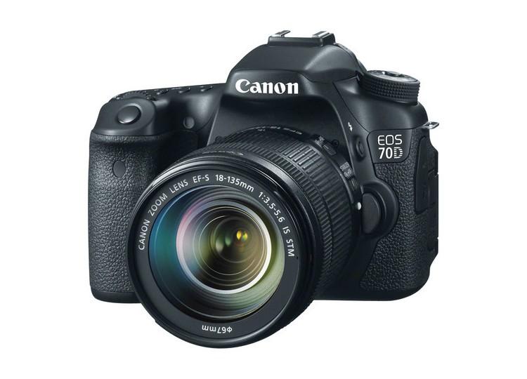 Купить -  Canon EOS 70D + объектив 18-135mm f/3.5-5.6 EF-S IS (Kit) Официальная гарантия!