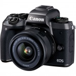Фото - Canon Canon EOS M5 Kit  EF-M 15-45 IS STM Black + переходник EOS M – EOS EF