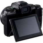 Фото Canon Canon EOS M5 Kit  EF-M 15-45 IS STM Black + переходник EOS M – EOS EF