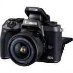 Фото Canon Canon EOS M5 Kit  EF-M 15-45 IS STM Black + в подарок переходник EOS M – EOS EF
