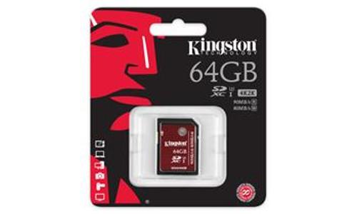 Купить - Kingston  Kingston 64GB SDXC C10 UHS-I U3 R90/W80MB/s 4K SDA3/64GB