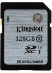 Фото - Kingston  Карта памяти Kingston 128GB SDHC C10 UHS-I R45MB/s (SD10VG2/128GB)