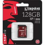 Фото Kingston  Карта памяти Kingston 128GB SDXC C10 UHS-I U3 R90/W80MB/s 4K (SDA3/128GB)