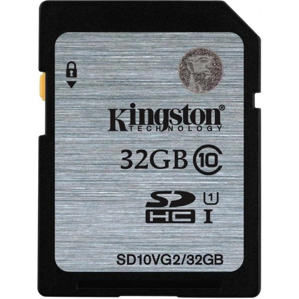 Купить -  Карта памяти Kingston 32GB SDHC C10 UHS-I R45MB/s (SD10VG2/32GB)