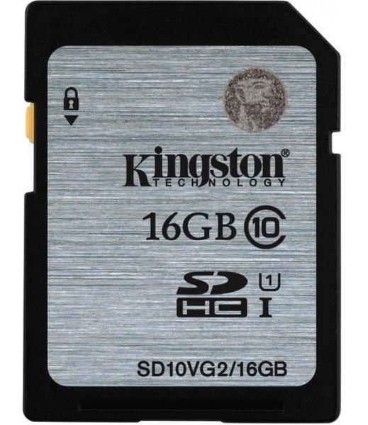 Купить -  Карта памяти Kingston 16GB SDHC C10 UHS-I R45MB/s (SD10VG2/16GB)
