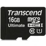 Фото -  Карта памяти Transcend Ultimate microSDHC 16GB Class 10 UHS-I R90MB/s + SD адаптер (TS16GUSDHC10U1)