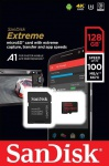Фото - SanDisk Карта памяти SanDisk 128GB microSDHC V30 A1 UHS-I U3 R100/W90MB/s 4K Extreme + SD (SDSQXAF-128G-GN6MA)