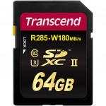 Фото -  Карта памяти Transcend 64GB SDXC C10 UHS-II U3 R285/W180MB/s 4K (TS64GSD2U3)