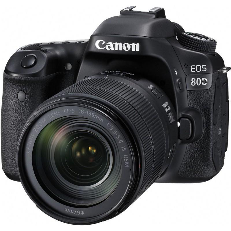 Купить - Canon Фотоаппарат Canon EOS 80D + EF-S 18-135mm IS nano USM