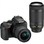 Фото - Nikon Фотоаппарат Nikon D5600 + AF-P 18-55 VR + AF-P 70-300 (VBA500K004)