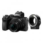 Фото - Nikon Фотоаппарат  Nikon Z50 + NIKKOR Z DX 16-50mm VR + FTZ (VOA050K004)