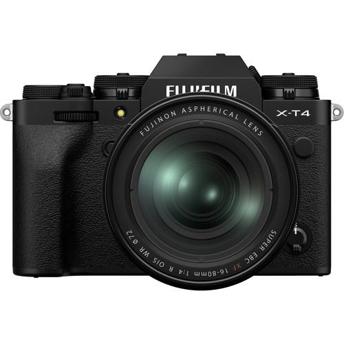 Купить - Fujifilm Фотоаппарат Fujifilm X-T4 + 16-80mm Kit Black (16651277)