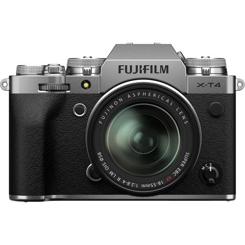Купить - Fujifilm Фотоаппарат Fujifilm X-T4 + 18-55mm F2.8-4 Kit Silver (16650883)