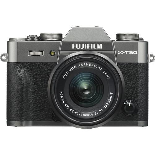 Купить - Fujifilm Фотоаппарат Fujifilm X-T30 + XF 15-45mm F3.5-5.6 Kit Charcoal Silver (16619401)