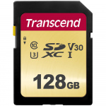 Фото -  Карта пам'яті Transcend 128GB SDHC C10 UHS-I R95/W65MB/s (TS128GSDC500S)
