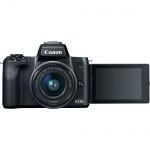Фото Canon  Фотоаппарат Canon EOS M50 + 15-45 IS STM Web Kit Black (2680C060WCK)
