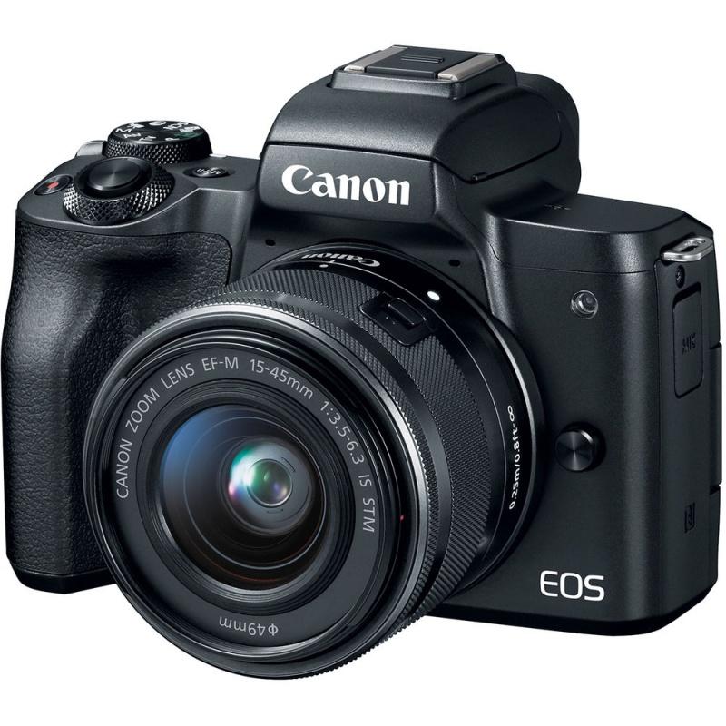 Купить - Canon Фотоаппарат Canon EOS M50 + 15-45 IS STM Web Kit Black (2680C060WRK)