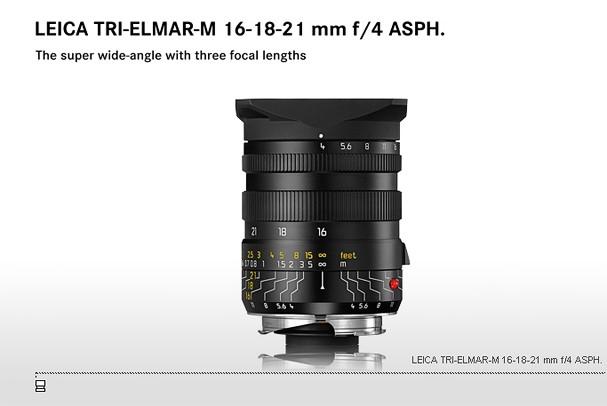 Купить -  LEICA TRI-ELMAR-M 16-18-21 mm f/4 ASPH.