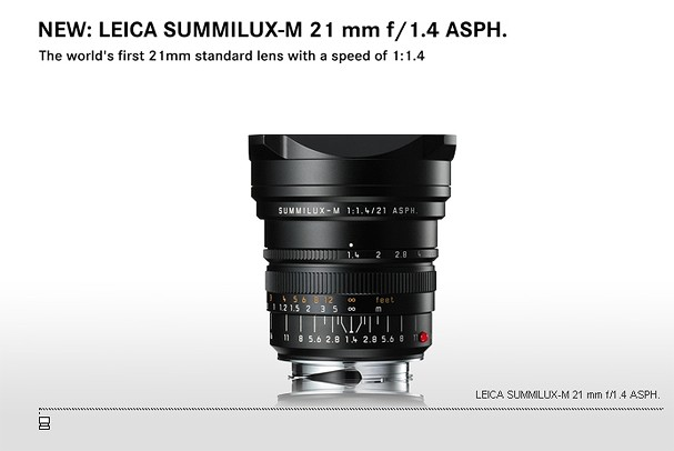 Купить -  LEICA SUMMILUX-M 21 mm f/1.4 ASPH.
