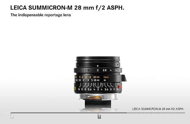 Купить -  LEICA SUMMICRON-M 28 mm f/2 ASPH.