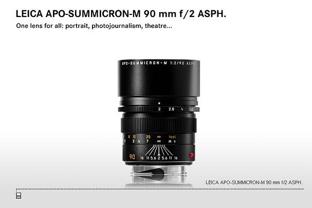 Купить -  LEICA APO-SUMMICRON-M 90 mm f/2 ASPH.
