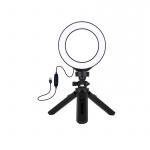 Фото - PowerPlant Кольцевая USB LED лампа Puluz PKT3058B 4.7' + штатив 12 см (PKT3058B)