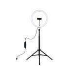Фото - PowerPlant Кольцевая USB LED лампа Puluz PKT3061B 11.8' + штатив 1.65 м (PKT3061B)