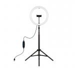 Фото - PowerPlant Кольцевая USB LED лампа Puluz PKT3068B 11.8' + штатив 1.1 м (PKT3068B)