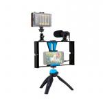 Фото - PowerPlant Комплект блогера Puluz PKT3023 4в1 (свет, крепление, держатель для телефона, микрофон) (PKT3023)