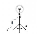 Фото - PowerPlant Кольцевая USB LED лампа Puluz PKT3069B 10.2' + штатив 1.1 м (PKT3069B)